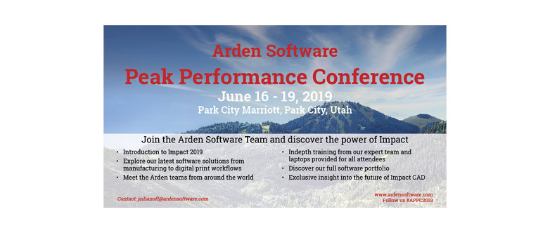 Arden Software Peak Performance Conference  – #APPC2019